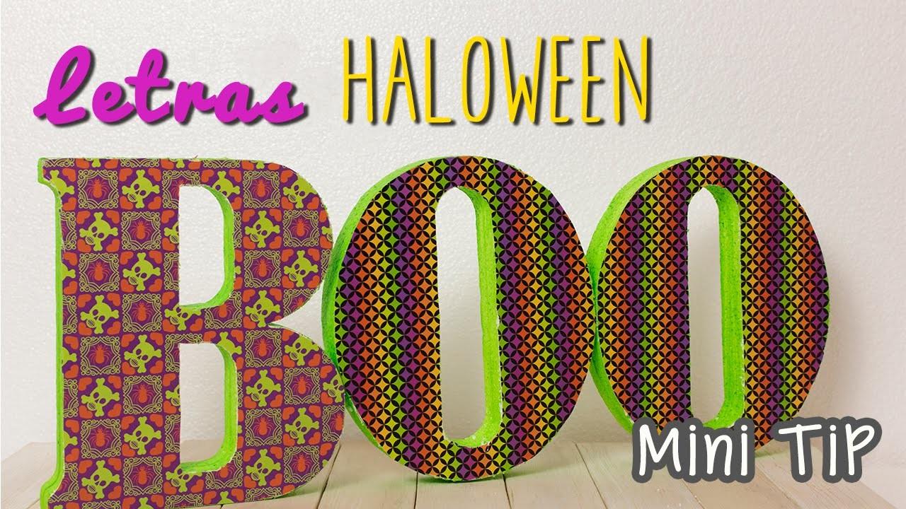 Decoraciones para Halloween - Letras 3D para decorar - Manualidades fáciles - Mini Tip# 58