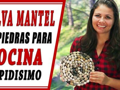 DIY Salva mantel de piedras para la cocina rapidisimo