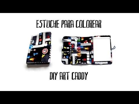 Estuche para colorear - DIY art caddy