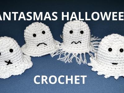 Fantasmas Halloween en tejido crochet tutorial paso a paso.