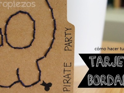 Fieltropiezos: Cómo hacer una tarjeta bordada