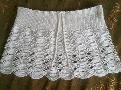 Minifalda tejido a crochet