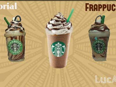 Starbucks DIY Frappuccino Polymer clay Tutorial. Frappuccino con plastilina