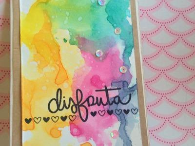 Tarjeta de scrapbook con tintas distress