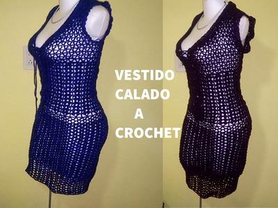 VESTIDO CALADO A CROCHET PARTE 1
