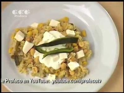 """Arroz a la poblana con cacahuates [""""Platillo Sabio Profeco"""" 17.3]"""