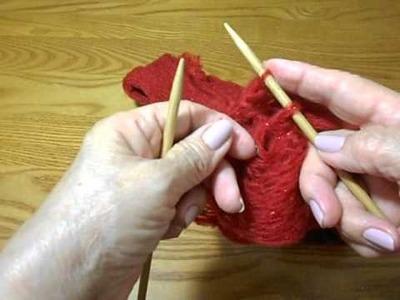 Bufanda Tela de Araña dos agujas rapida y facil