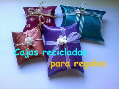 Cajas para regalos reciclada || Manualidades Recicladas