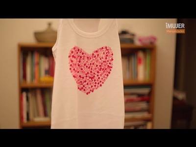 Camiseta decorada para San Valentín | Ideas para San Valentín | @iMujerHogar