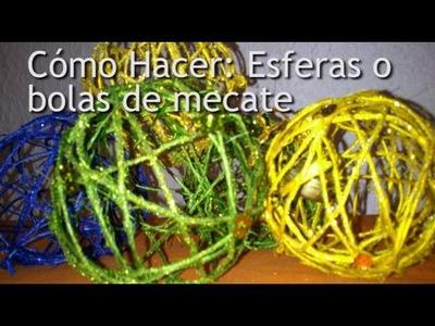 Cómo Hacer: Esferas de mecate (bolas de mecate)