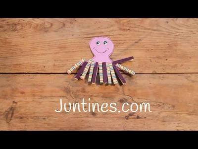 Manualidades con pinzas de madera : Pulpo infantil