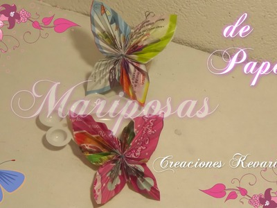 Mariposas de Papel Reciclado.DIY: Paper Butterfly Tutorial