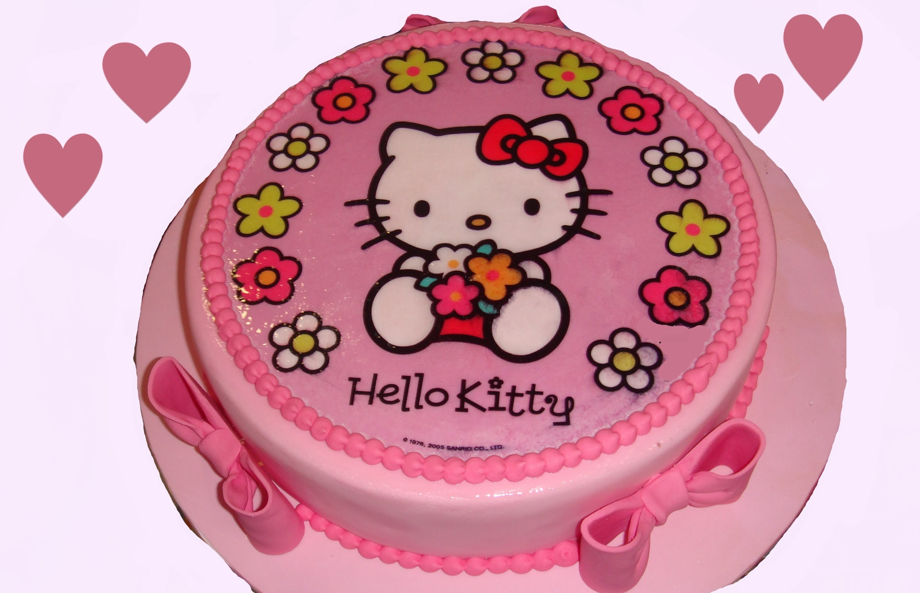 Tarta de fondant de Hello Kitty. How to make a kitty cake