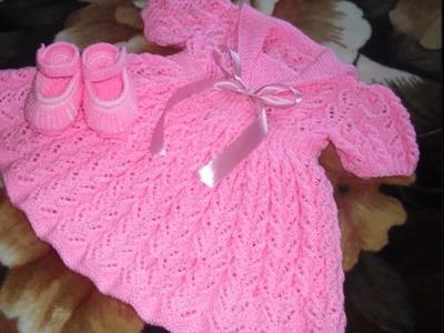 Vestidos tejidos a crochet bebe