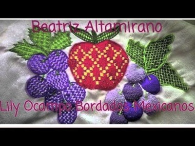 Bordado Fantasia-Proyecto XXXIII Agosto-Frutas-Lily Ocampo Bordados Mexicanos