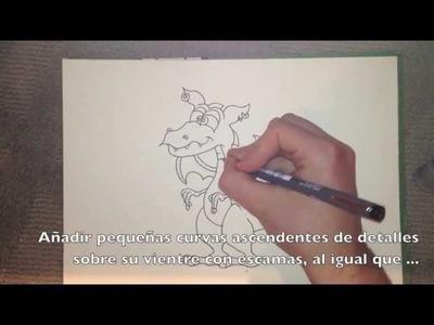 Cómo dibujar un dragón - paso a paso guía