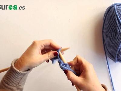 Cómo hacer punto del revés dos agujas