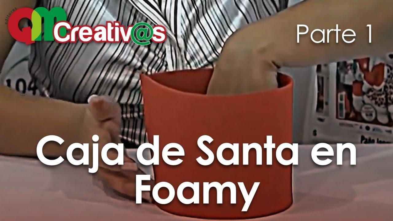 DIY - Navidad Caja Santa en Foamy 1.3 - ( Christmas Santa Box )