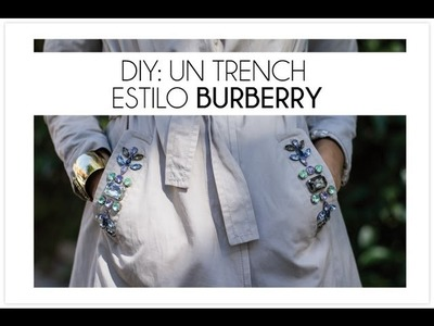 DIY Trench al estilo Burberry