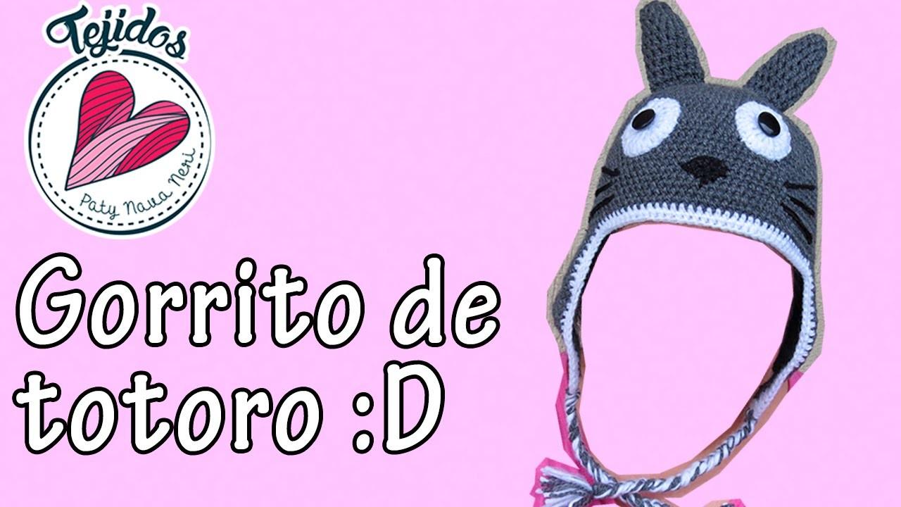 Gorro de Totoro tejido a crochet | Tutorial, Paty Nava Neri