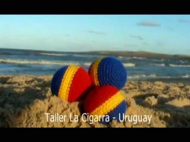 Juego de pelotas para Malabares - Circo - Tejidas a crochet - Hecho a mano en Uruguay