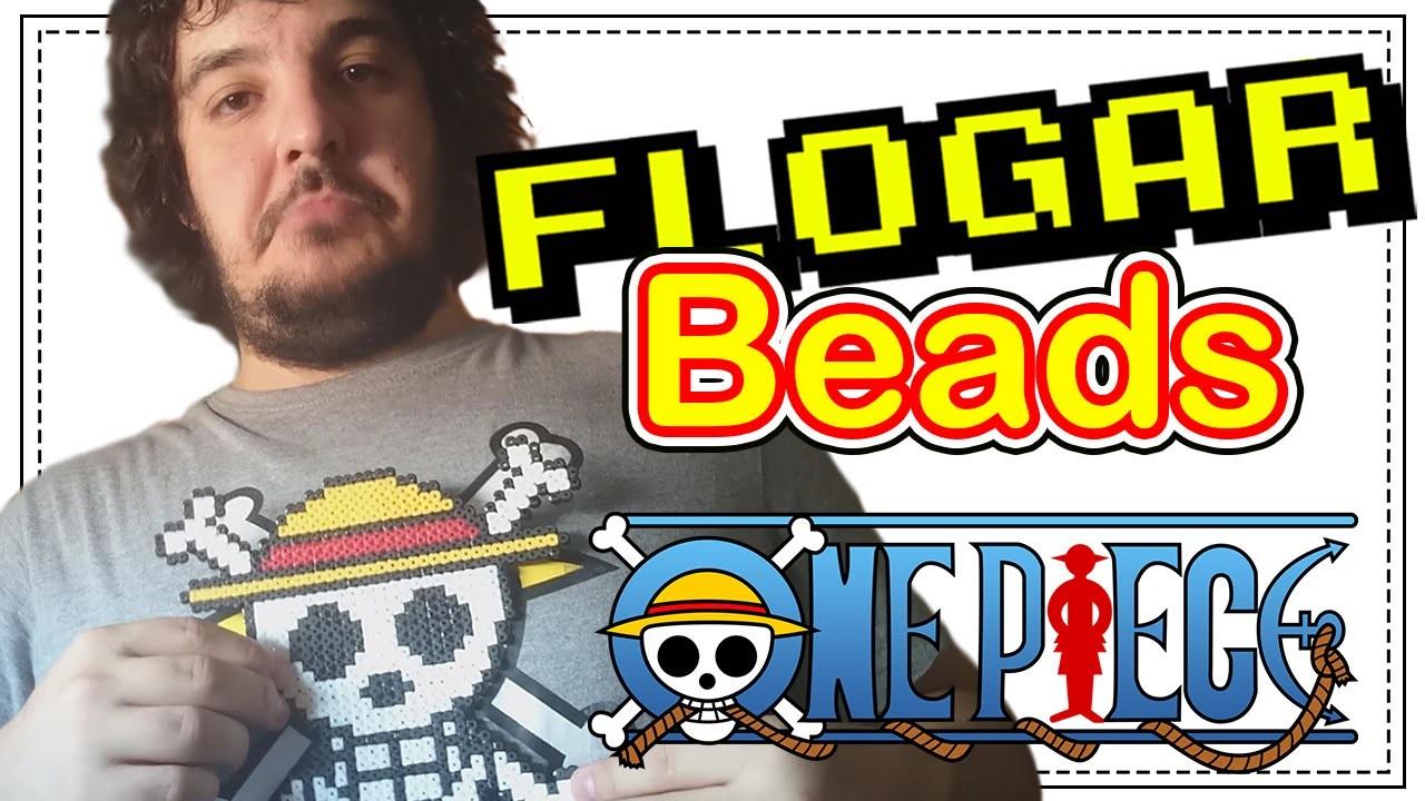 LOGO ONE PIECE - DIY- Tutorial Pearl.Hama Beads para Gamers - FloGar o.O
