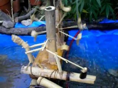 Molino para estanque de agua artesanal (casero)