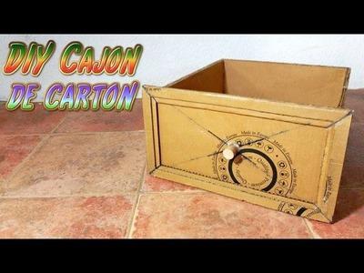 Muebles de cartón, Cajón de Cartón muy Resistente, manualidades recicladas