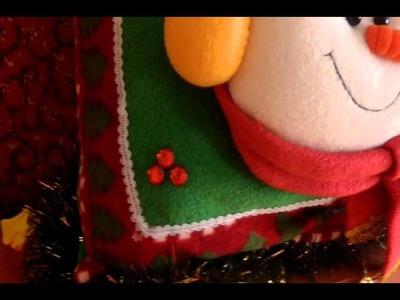 Muñecos Navideños: Cojin Navideño Nieve Feliz