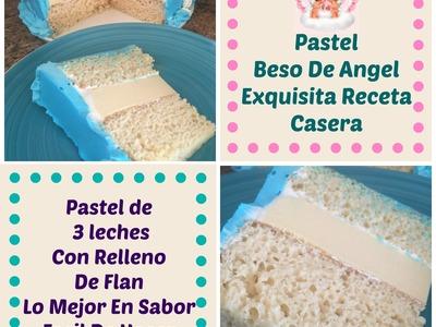 Pastel Beso De Angel 3 Leches Relleno De Flan - Madelin's Cakes