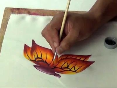 Pintando una Mariposa en Tela