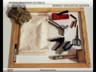Preparación de soportes pictóricos (1 de 2: Montaje del bastidor)