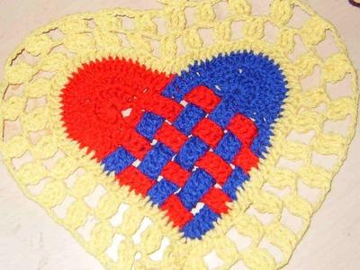 San Valentín Corazón entrelazado tejido 2 de 2.