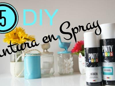 5 DIY para decorar con pintura en spray. Pinafili FIlms