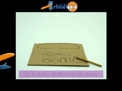 Avioneta. Manualidades infantiles, manualidades con material reciclado