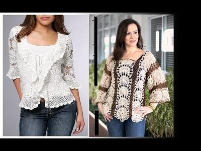 Blusas de moda en crochet -Varios estilos