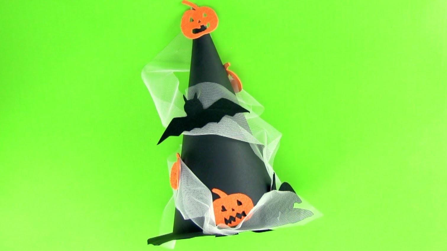 Cómo hacer un gorro de bruja para Halloween paso a paso