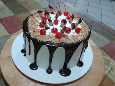 Cómo hacer un pastel artesanal con cerezas y ganache con chocolate - CHUCHEMAN1 - 2012