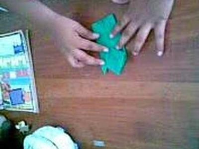 Como hacer una rana de papel