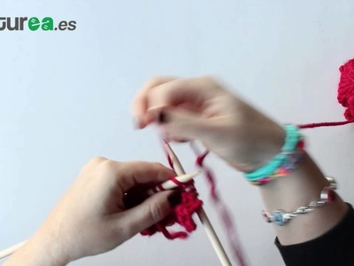 Cómo tejer un ojal para botón con dos agujas