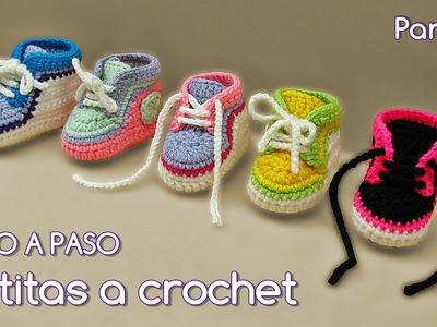 Cómo tejer zapatitos botitas escarpines bebé crochet, ganchillo - VARIOS TALLES (2.2)