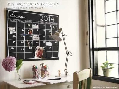 DIY Calendario Perpetuo en pizarra mágnetica