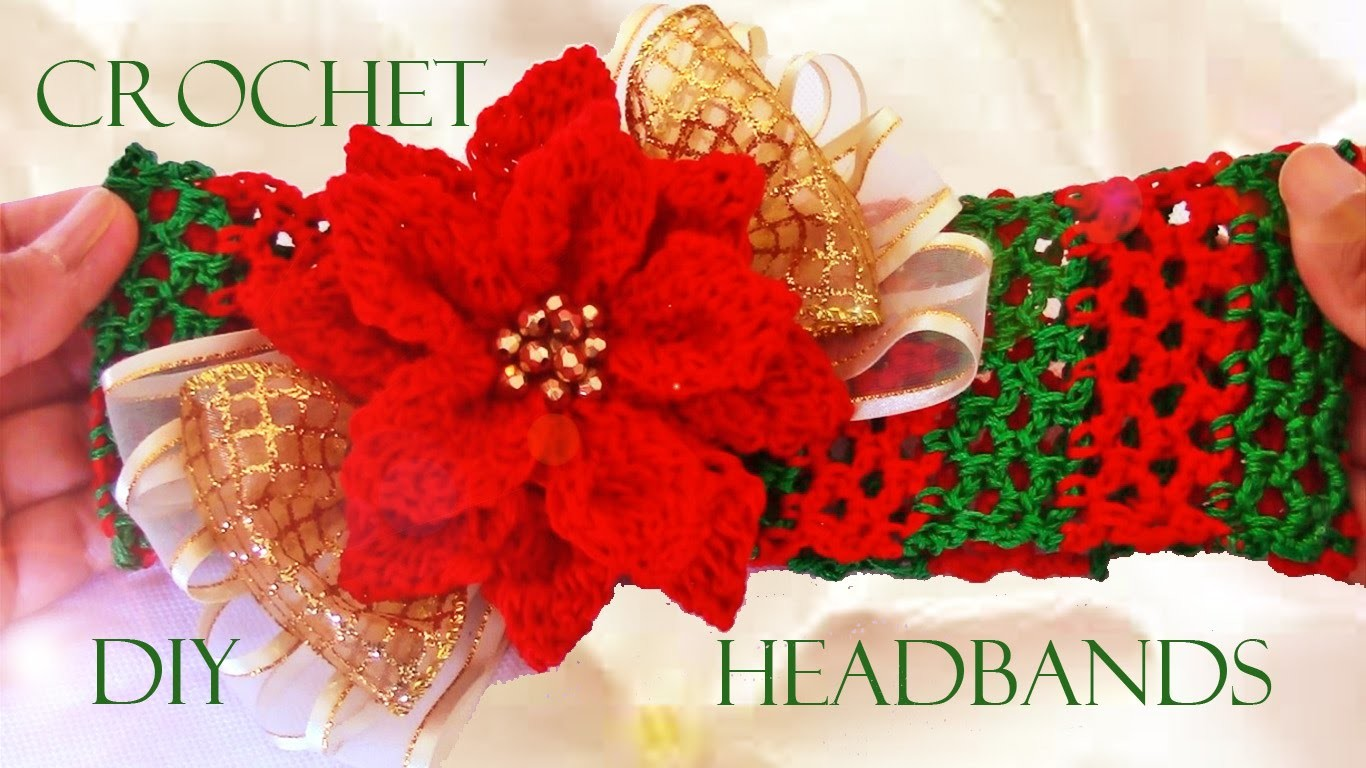 DIY diademas a crochet - crochet headbands