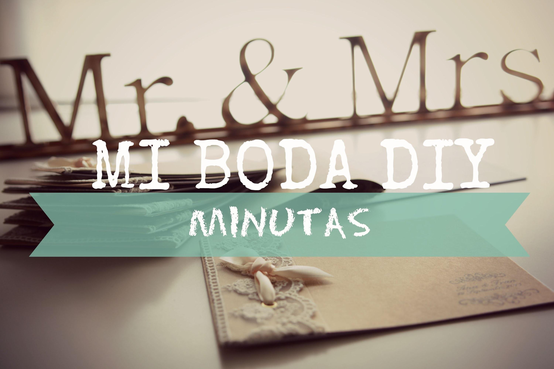 DIY Minutas o Menus para bodas. Tutorial Encuadernación Sencilla.
