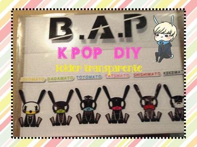KPOP DIY Como hacer un folder de tus artistas favoritos (B.A.P)