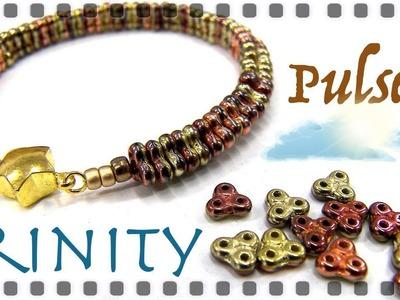 Pulsera cuentas Trinity muy sencilla