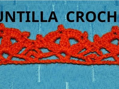 Puntilla N° 59 en tejido crochet o ganchillo tutorial paso a paso.