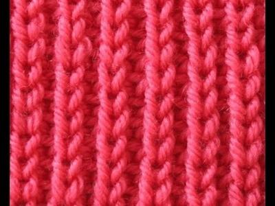 Punto Elastico 2 agujas-Punto puño de jersey