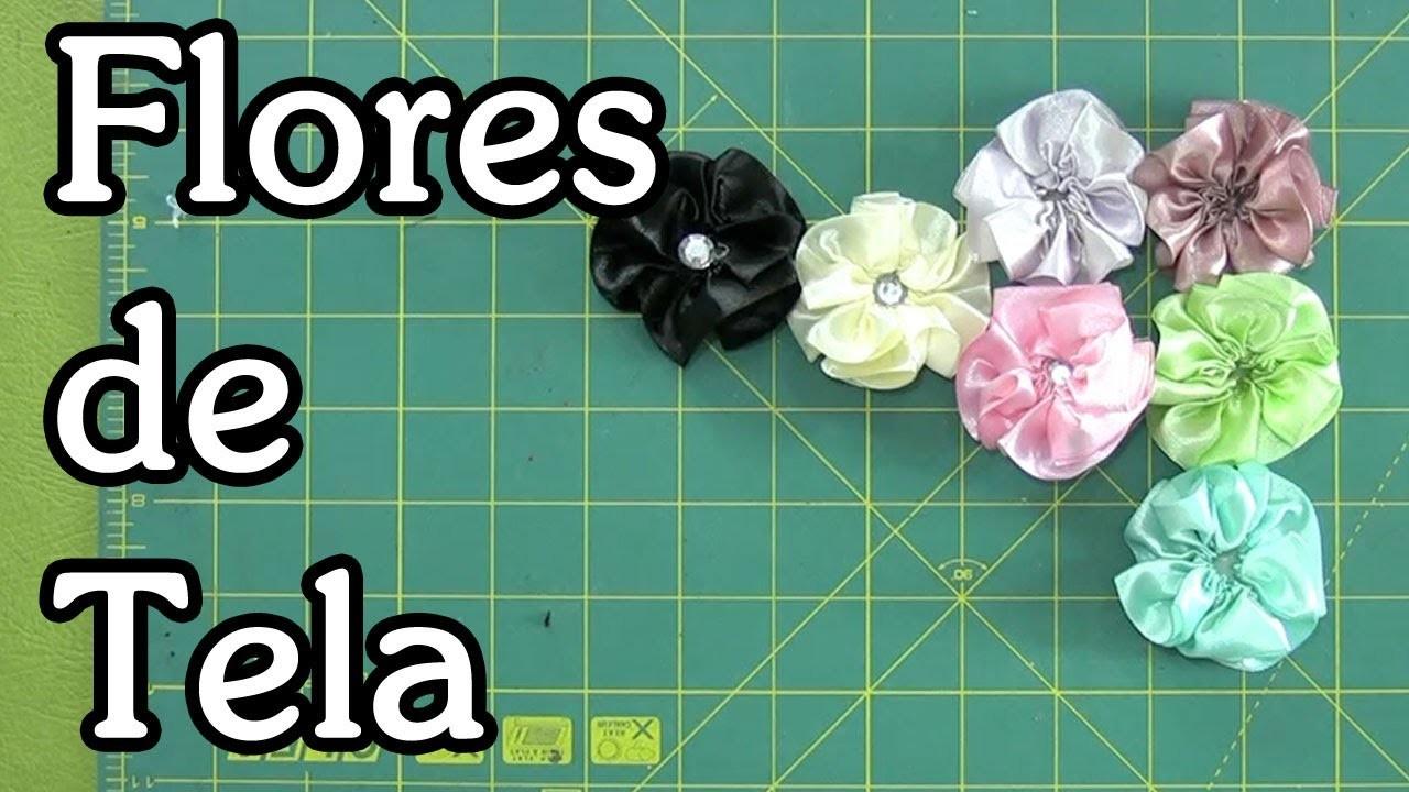 Tutorial flores de tela - Fabric flowers
