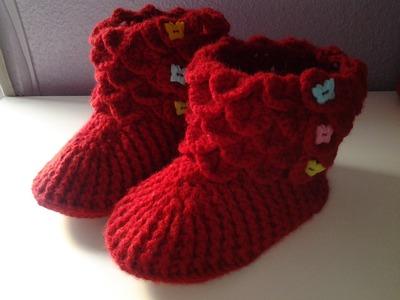 Botines cocodrilo a crochet (ganchillo) 2#tutorial DIY